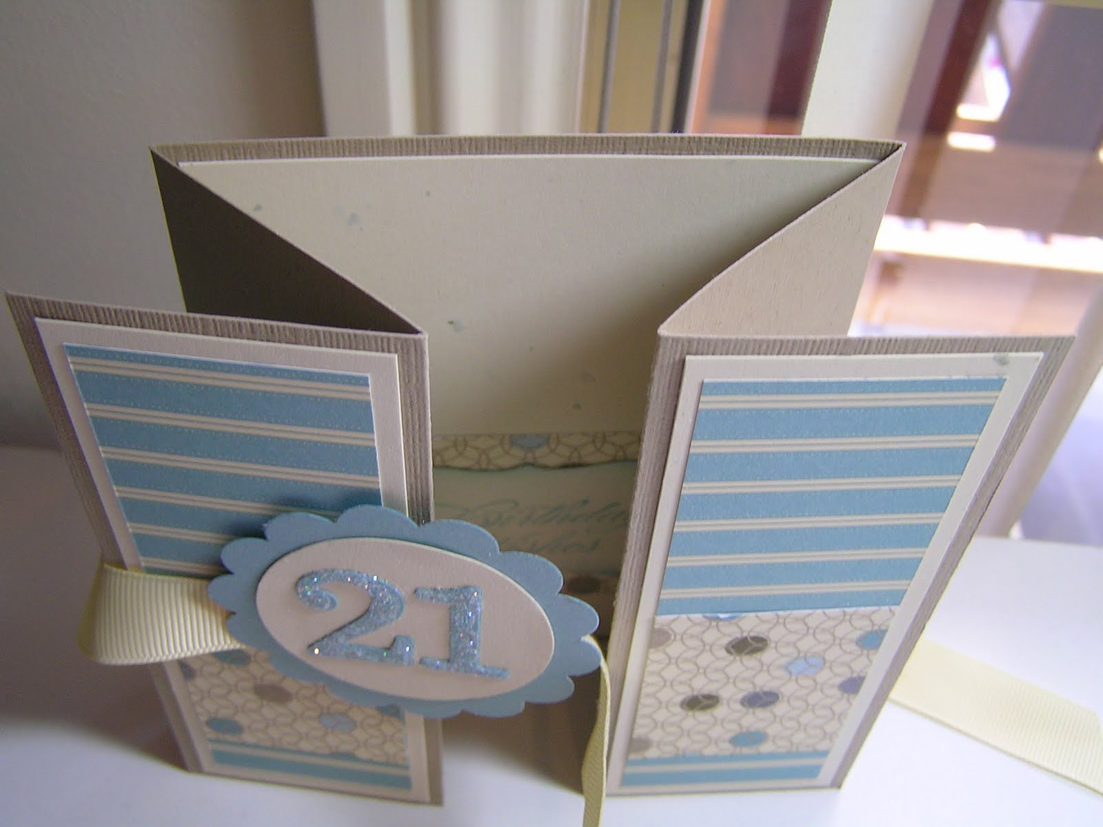 Stamping Passion 21st Birthday Card Double Z Fold Card