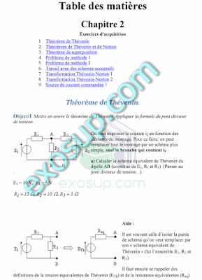 exercices corrigés électrocinétique smpc s2