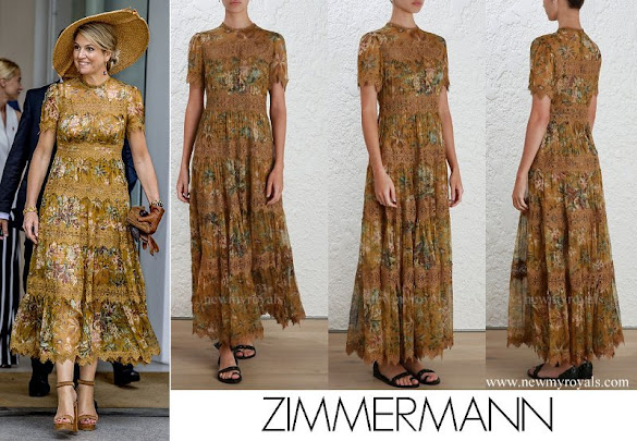 Queen Maxima wore Zimmermann Tropicale Crinkle Dress