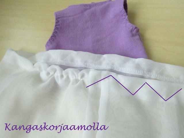 ompele poimutus mekkoon