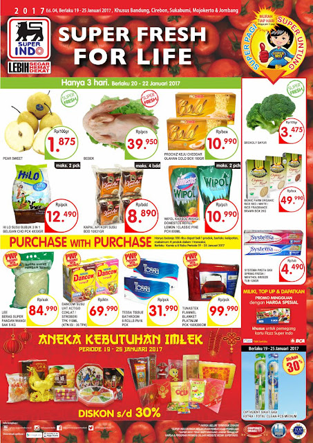 Katalog Super Indo Bandung, Sukabumi, Cirebon, Mojokerto, Kediri, Jombang Edisi 19-25 Januari 2017
