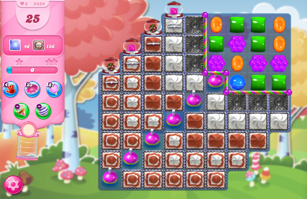 Candy Crush Saga level 5828