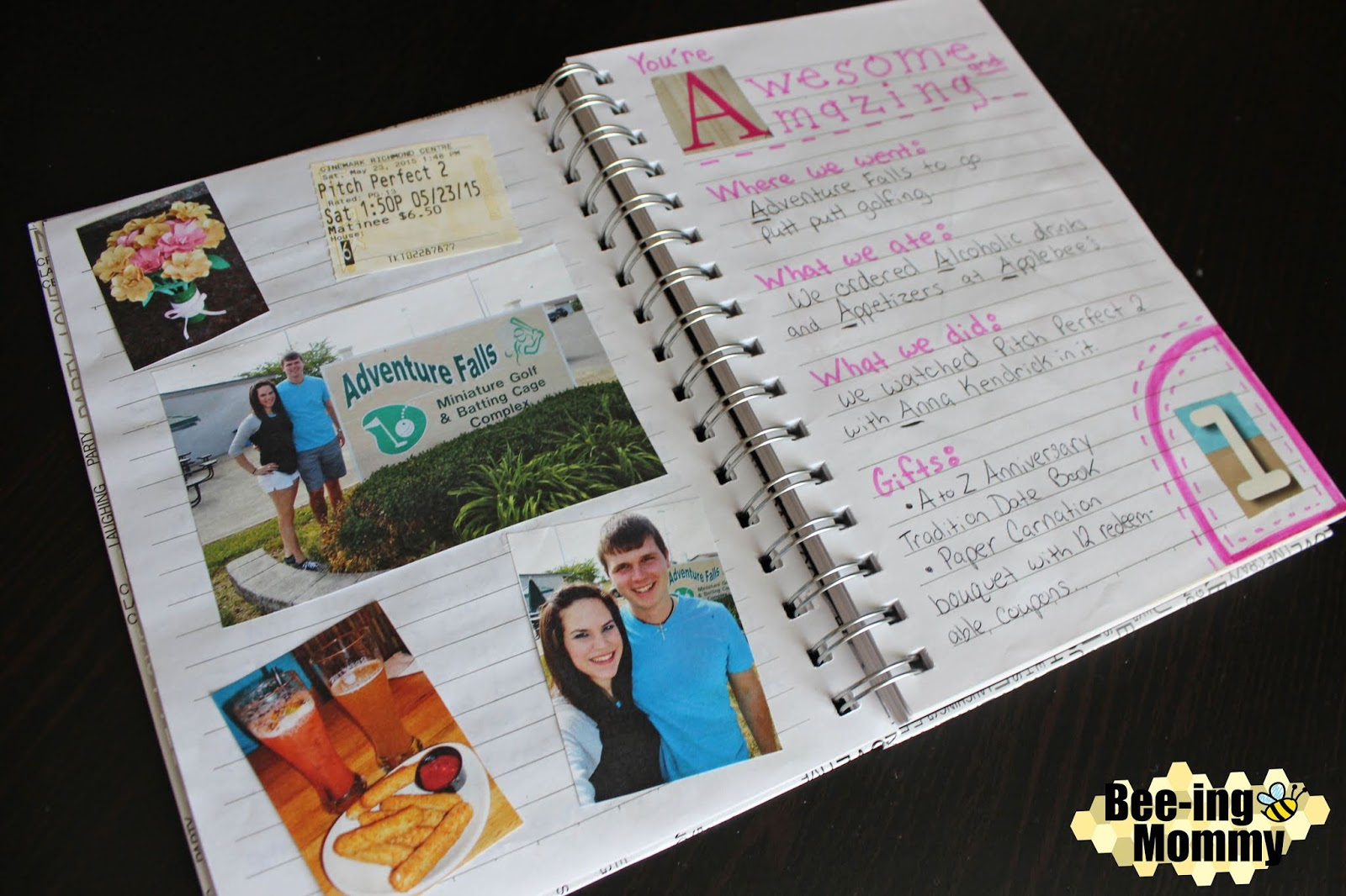 A to Z Wedding Anniversary Date Book