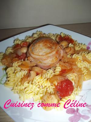 paupiette de veau tomate champignon
