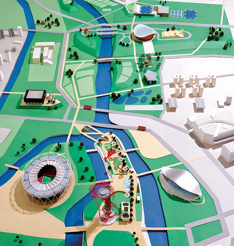 Miniature Design Queen Elizabeth Olympic Park London Map Creativehozz About Home Decorating