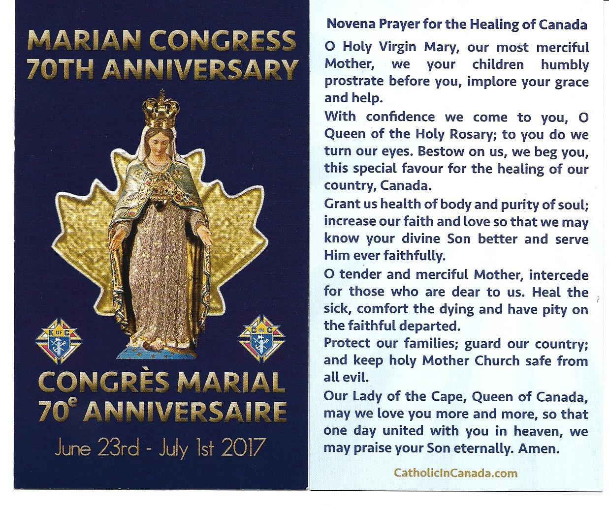 Maureen's Thoughts: Novena Prayer for the Healing of Canada