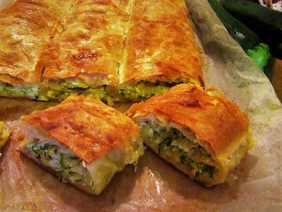 Brza pita od tikvica / Zucchini filo pie