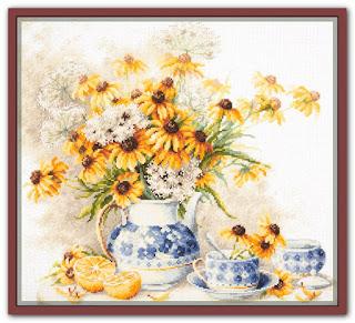 Чудесная игла 50-08 «Цветочный чай»