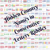 Find hidden country names in consecutive letters riddles