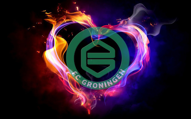 FC Groningen achtergrond met logo