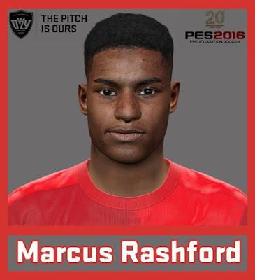 PES 2016 Marcus Rashford Face