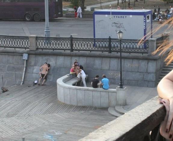 hookers having sex in public