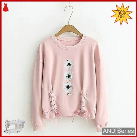 AND213 Sweater Wanita Mo Flower Pink BMGShop