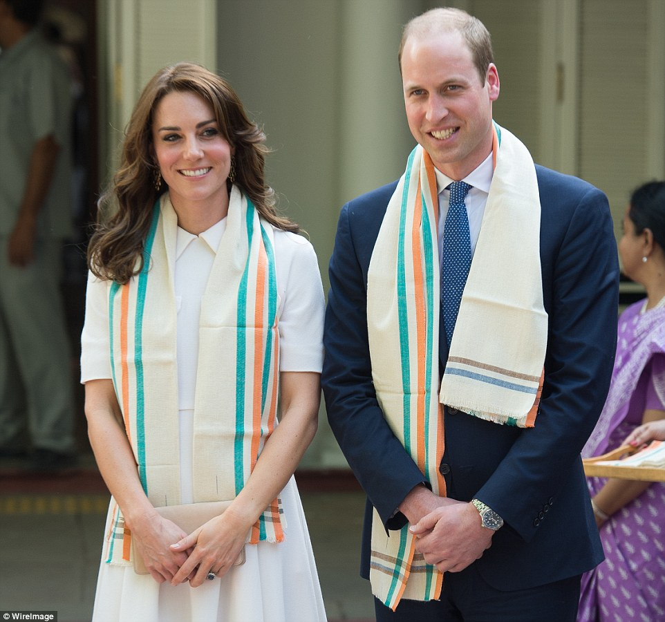 Kate Middleton and Prince William arrive at the Old Birla House in Delhi