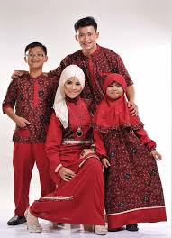 Model Baju Muslim Batik Couple Family Modern Terbaru