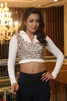 Catherine Tresa in a White Glittering Crop Top Black Leggings  Exclusive 009.JPG