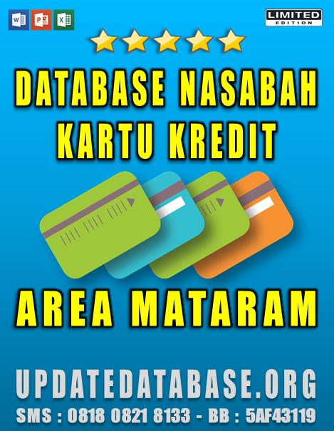Jual Database Nasabah Kartu Kredit Mataram