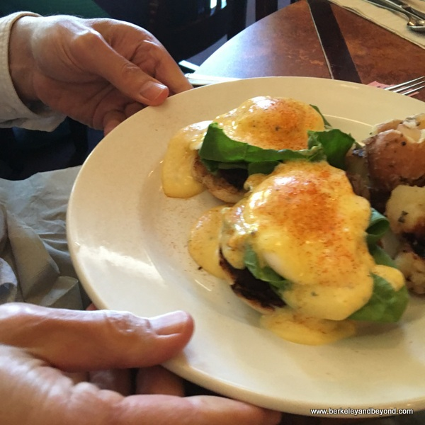 eggs Benedict at First St. Cafe in Benicia, California