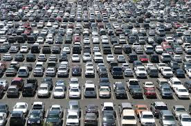 image of crowded parking lot
