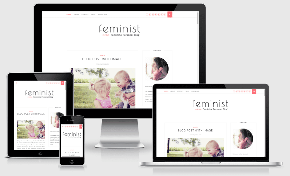 Feminist - Responsive Clean & Responsive Blogger Template