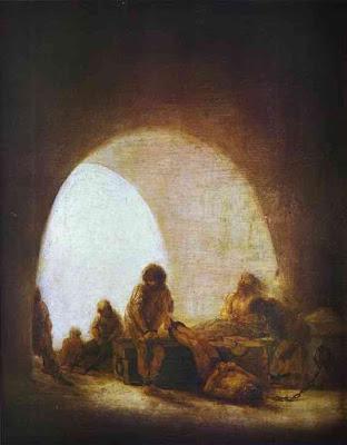 Interior de una prisión, Francisco de Goya