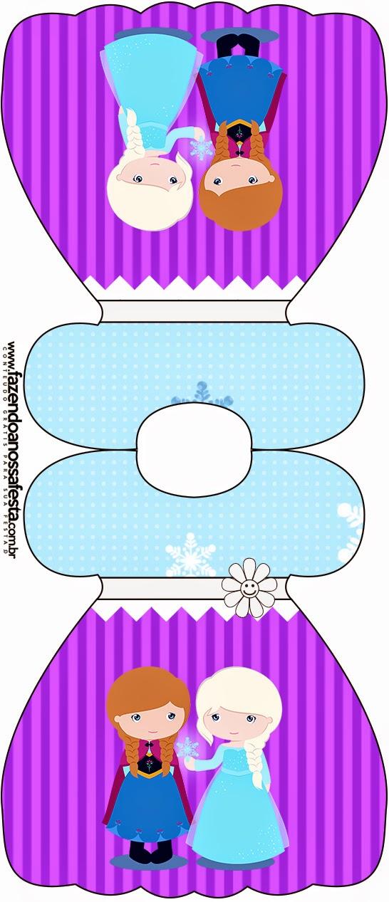 Tarjeta con forma de Vestido de Frozen Niñas en Navidad.