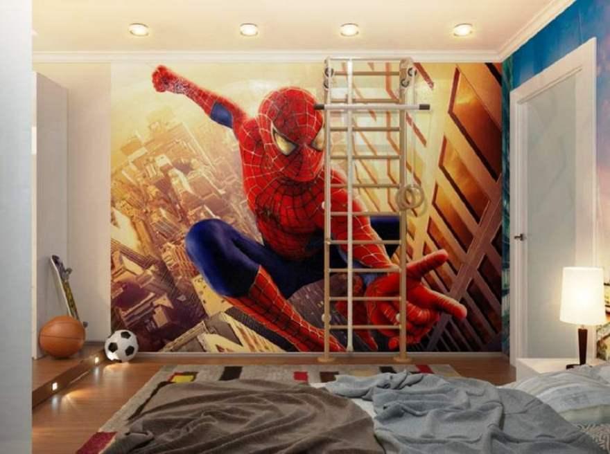 Motif Wallpaper Dinding Kamar Anak Laki-Laki Tema Spiderman