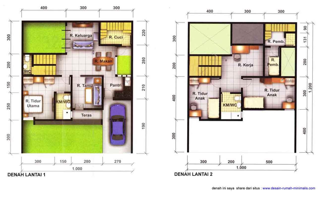 Gambar Desain Denah Rumah Minimalis 7 Contoh Denah Rumah Minimalis