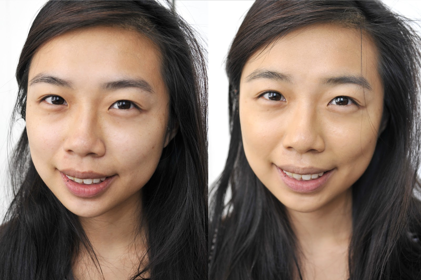 mac foundation before and after. application is atypical. mac foundation before and after