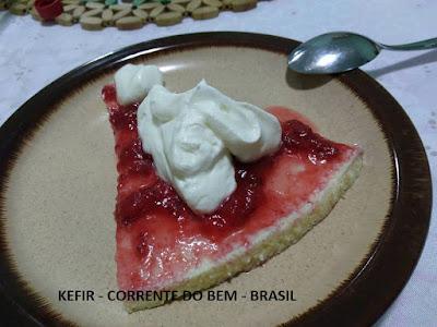 CHEESECAKE COM KEFIR DE LEITE ( SEM BASE DE BISCOITO)