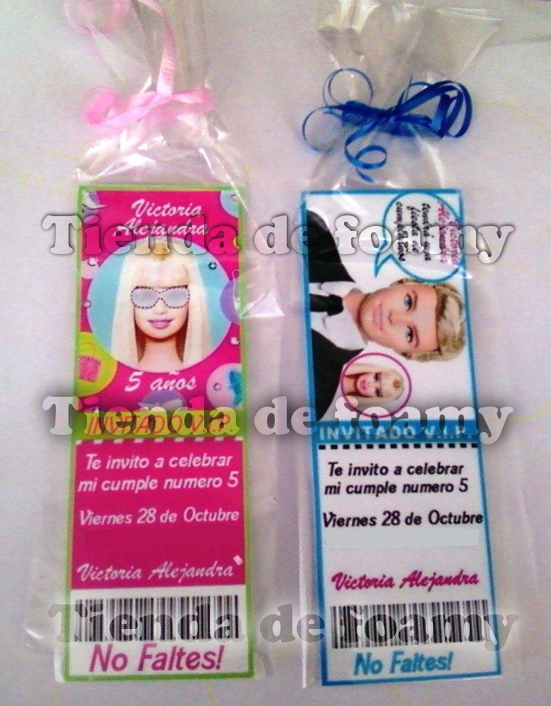 Tienda De Foamy Tarjetas De Invitaciones Barbie