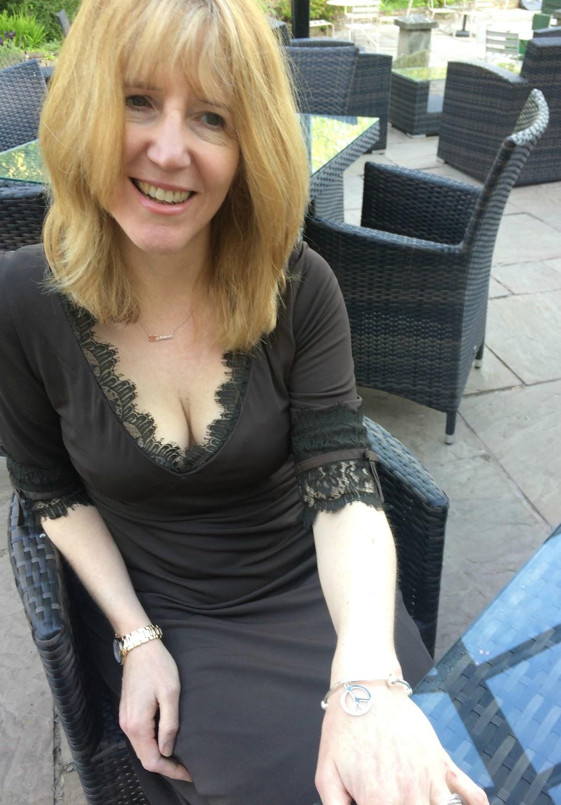Linda Hobbis wearing ChloBo Noodle Disc Peace Bracelet