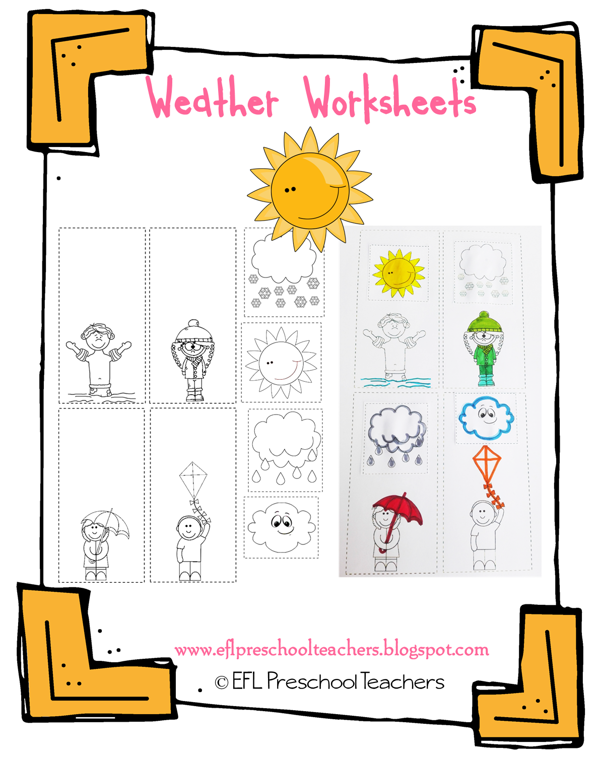 Esl Efl Preschool Teachers Weather Theme Resources For