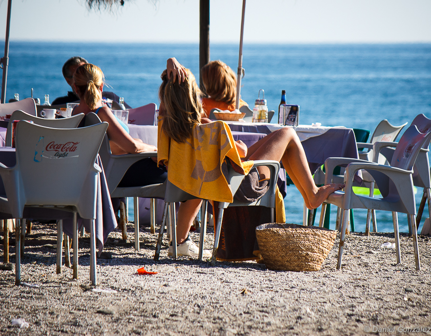 Desayuno al sol, Playa de Salobreña, Granada 2013