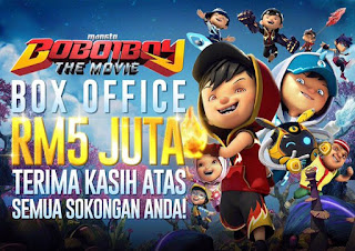 Poster Boboiboy The Movie box office