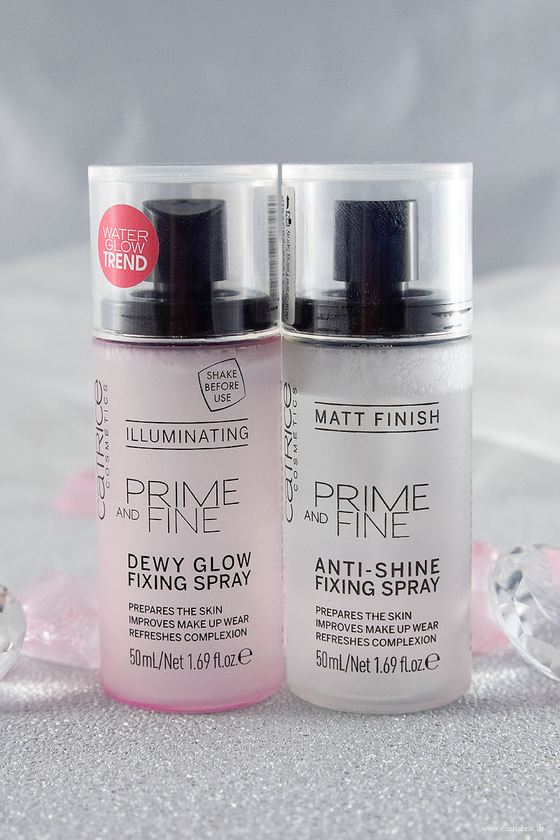 Catrice Prime and Fine Fixing Spray und Dewy Glowing Fixing Spray, Catrice Neues Sortiment Frühjahr Sommer 2018, Review, Swatch