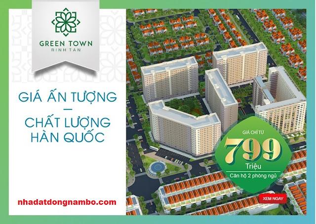 Căn hộ GREEN TOWN Bình Tân - Giá chỉ 790 triệu/căn 2PN
