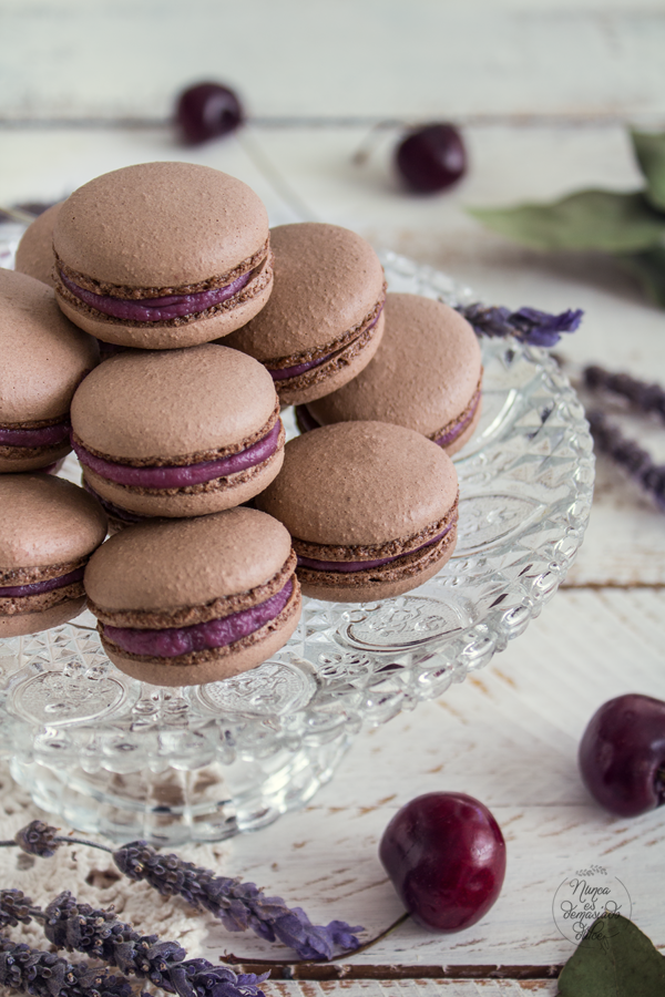 macarons-chocolate-curd-cerezas-cherry-cherries