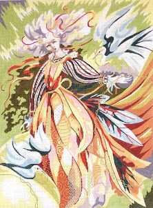 PAINTED CANVAS OF THE DAY FROM BARBARA RUSSELL DESIGNS/RITTENHOUSE