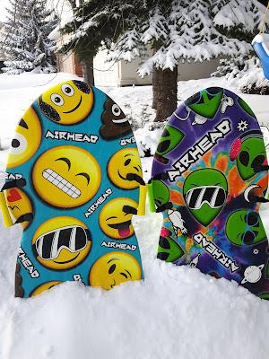 Airhead Emoji Squad and Tie Dye Alien Foam Sleds