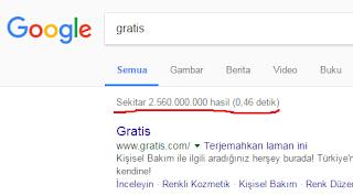 """hasil pencarian kata """"Gratis"""" di Google"""