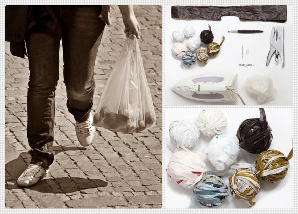 sombrero panamá, reciclar con bolsas de basura, manualidades