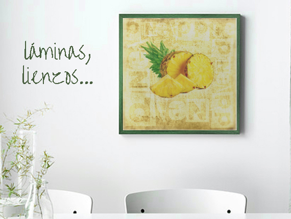 framed prints and canvas with pineapples