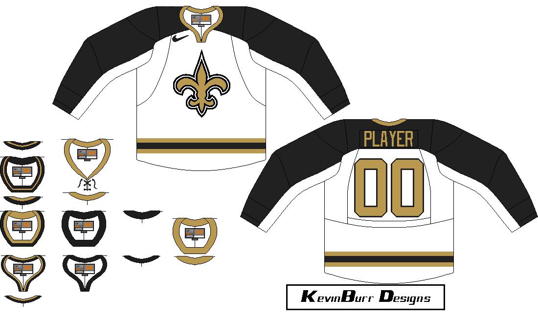 the latest b5194 b9479 new orleans saints hockey jersey
