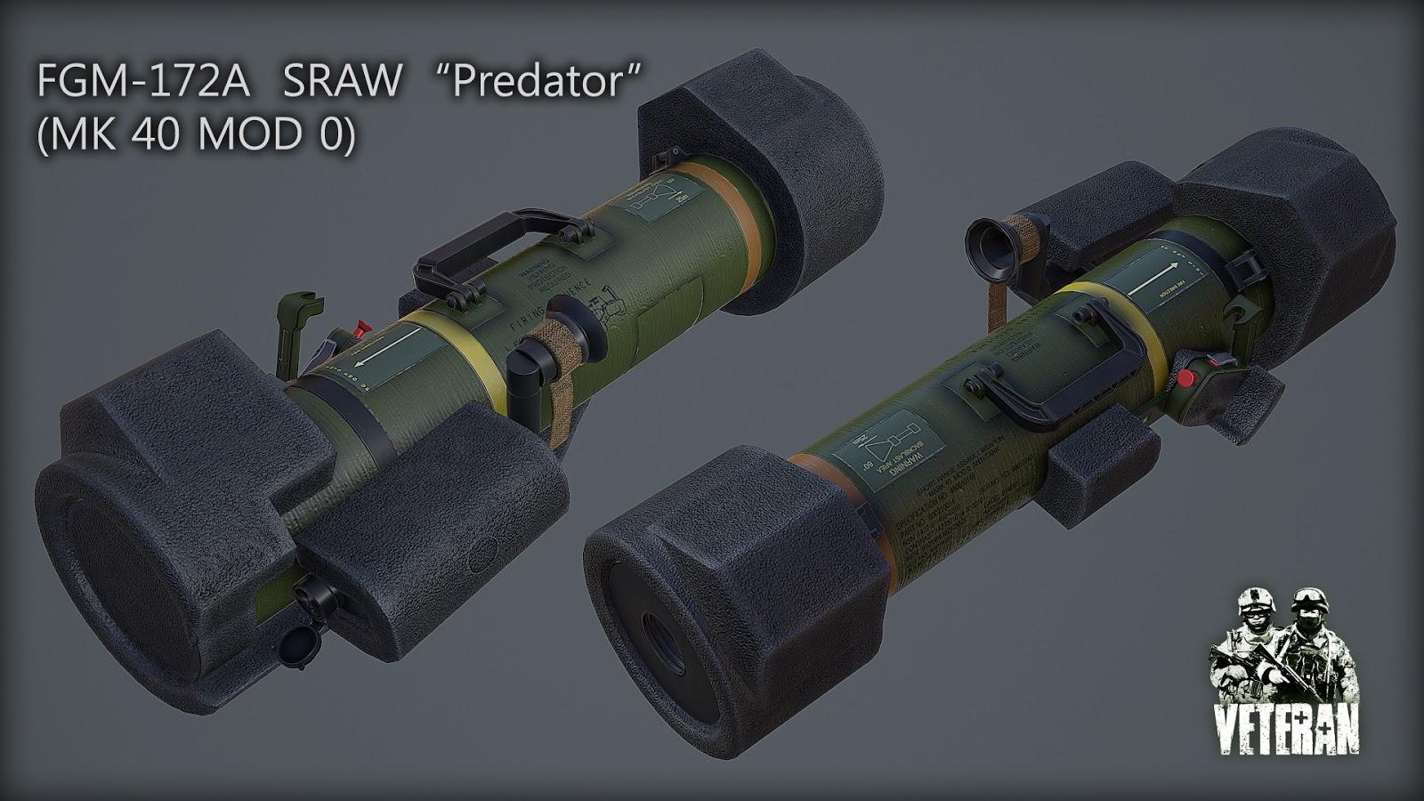 弱者の日記^^Arma 3 で現代戦を作る Veteran MOD で米軍の FGM-172 SRAW ランチャーを作製