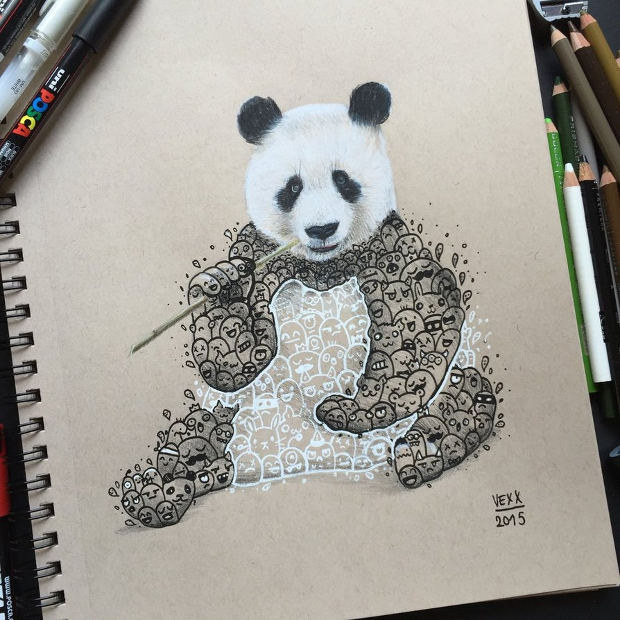 04-Panda-Doodle-Art-Vince-Okerman-vexx-Doodle-Drawings-that-Brightenup-your-Day-www-designstack-co