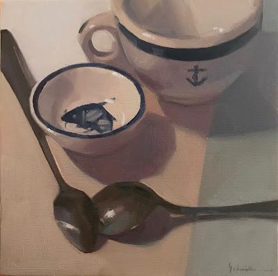 still life painting spoons sarah sedwick