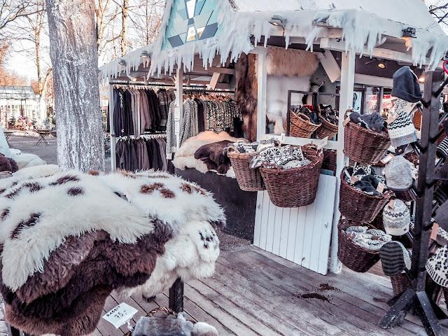 Tivoli, Copenhagen in February - shops