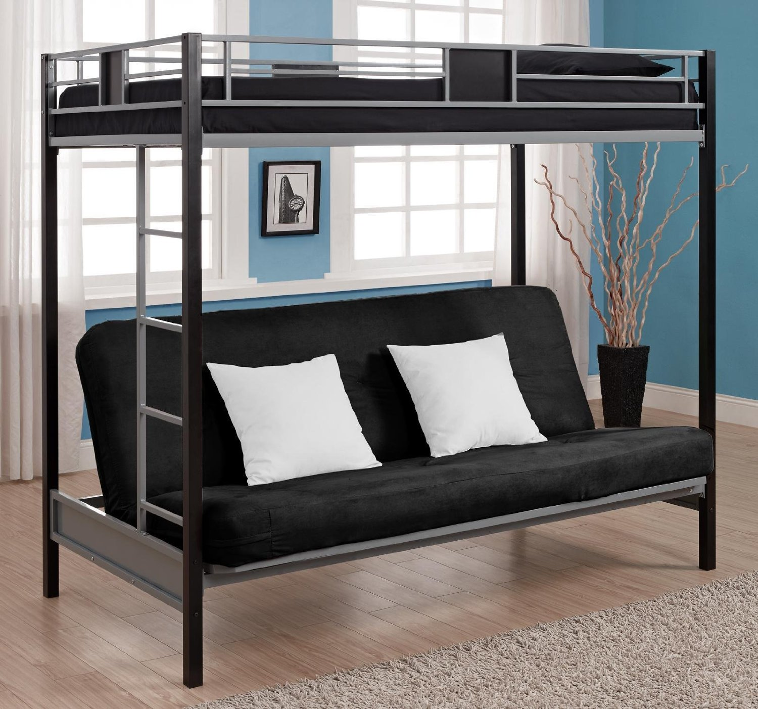 full size bunk bed with futon | roselawnlutheran