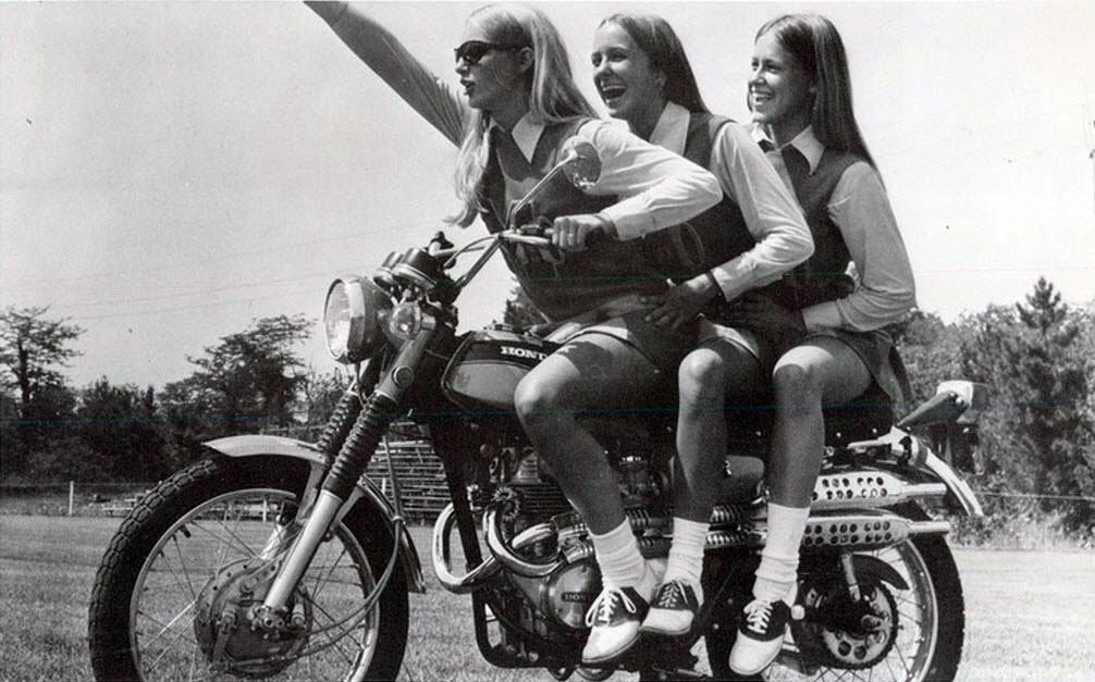 Bikers Quotes Wallpapers Vintage Photos Of Girls In Mini Skirts On Bikes Vintage